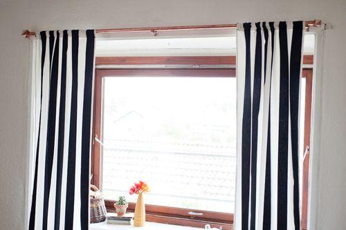 copper curtain rod