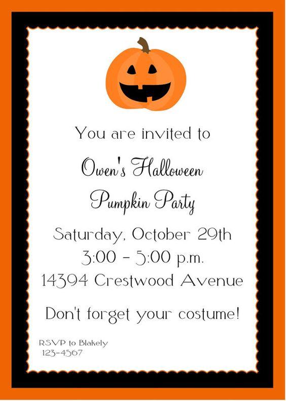 Hallowen Invitations is adorable invitations template