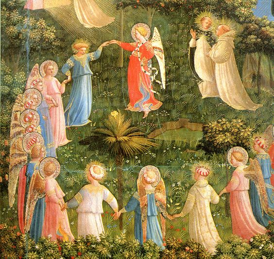 Dance of the blest, Last Judgement, Fra Angelico: