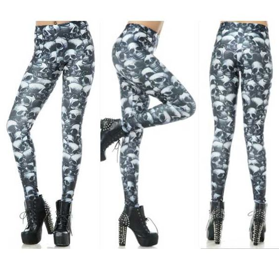 Fashion Skull BLOOD 3D Digital Printing Sexy Leggings Elastic s-4xl Size  Only $19.99 => Save up to 60% and Free Shipping => Order Now!  #print leggings outfit #dress #Fashion #girl #Digital #sport #yoga