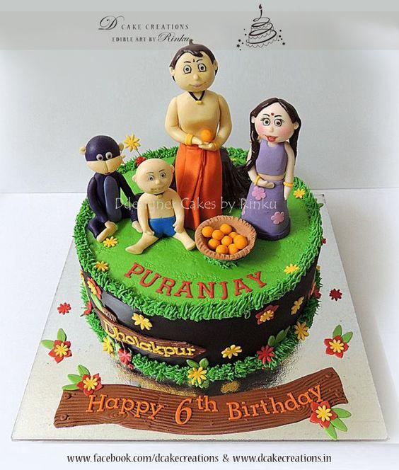Cake Images With Name Raju : Chota Bheem, Chutki, Jaggu and Raju Toddlers Birthday ...