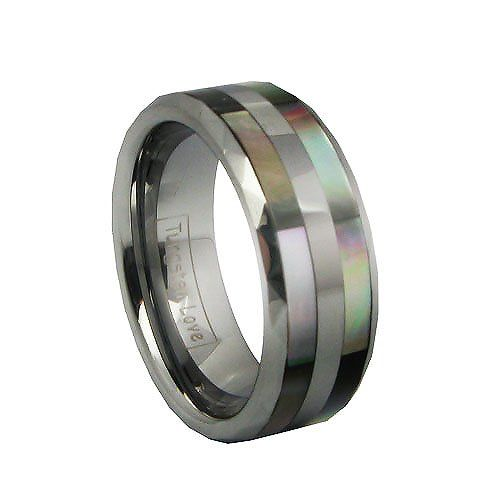 great 8mm comfort fit mens tungsten promise ring with