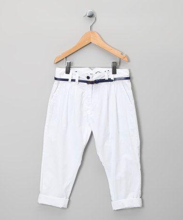 White Capri Pants - Girls | White Capris, Capri Pants and Toddler ...