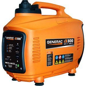 Generac 5791 iX800, 800 Watt Gas Powered Portable Inverter Generator (CARB Compliant)