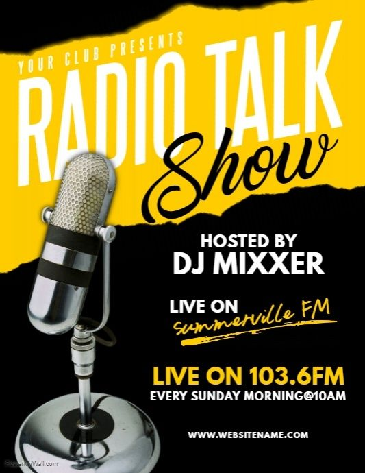 Radio Talk Show Flyer | PosterMyWall | Radio talk shows