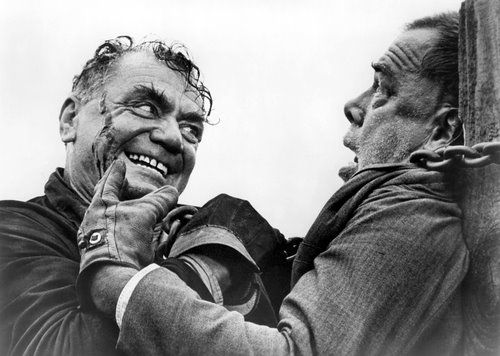 Ernest Borgnine with Lee Marvin in Emperor of the North (1973)