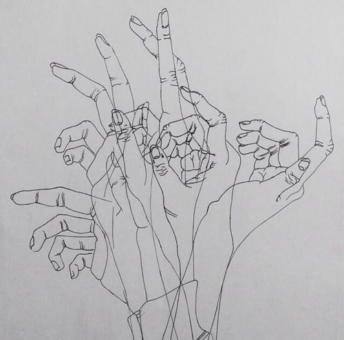 97aa508303f6fcf519b2e165262803d8  hand sketch drawing hands » Aesthetic Tumblr Drawings