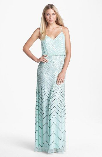 Women&39s Adrianna Papell Cross Back Sequin Blouson Gown  Colors ...