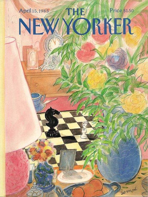 New Yorker cover by Jean-Jacques Sempe:
