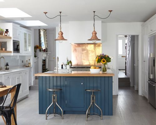 Amazing Blue Kitchen Island Houzz Blue Kitchen Island Images Remodel Modern Farmhouse Kitchens Farmhouse Kitchen Inspiration Farmhouse Kitchen Colors
