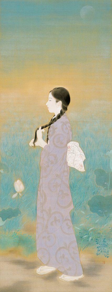 """The Cool of the Morning"" by Kaburaki Kiyokata (1925). Credit Kaburaki Kiyokata Memorial Art Museum"