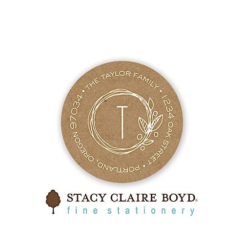 Stacy Claire Boyd Natural Love Round Address Sticky