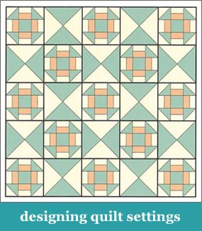 How to design quilt settings