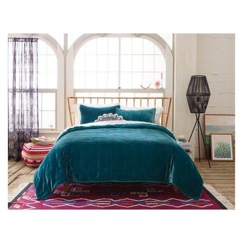 Target Opalhouse Bedding Teal Velvet Comforter Teal Bedding Teal Bedspread Comfortable Bedroom