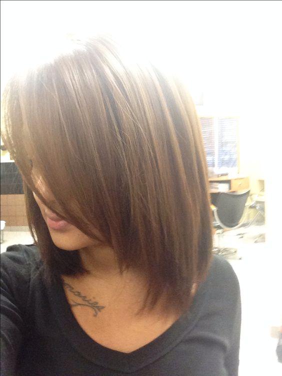 medium brown hair w highlights it def love the length. Black Bedroom Furniture Sets. Home Design Ideas