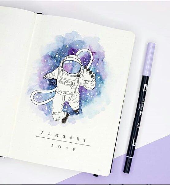 20 idées d'aquarelles dans votre Buller Journal