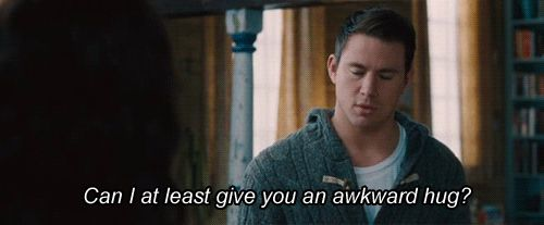 """""""Can I at least give you an awkward hug?"""" - Leo in The Vow ♥"""