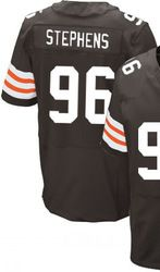 """$78.00--Emmanuel Stephens Jersey - Elite Brown Home Nike Stitched Cleveland Browns #76 Jersey,Free Shipping! Buy it now:click on the picture, than click on """"visit aliexpress.com"""" In the new page."""