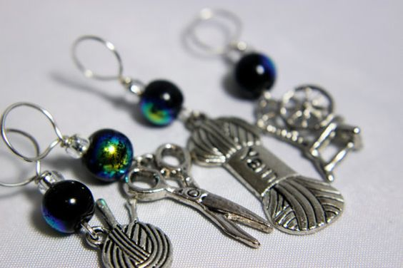 Crafter  Stitch Markers by midnightscribbles on Etsy
