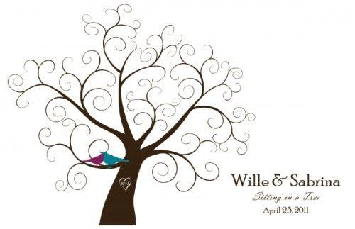 Downloadable fingerprint tree guestbook | Offbeat Bride