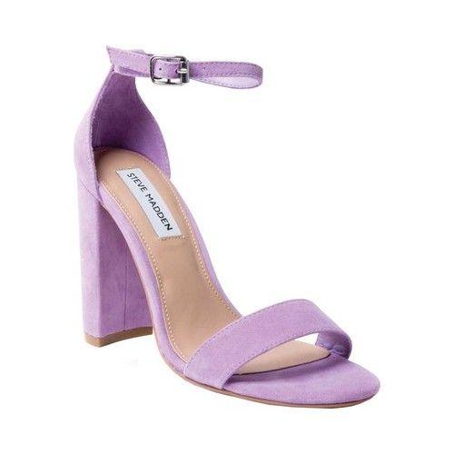 lavender suede sandals