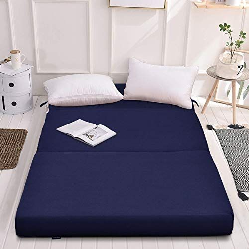 Best Seller Giantex 4 Thick Folding Portable Mattress Pad Sofa Bed No Carrying Handles Removable Washable Fabric High Density Foam Futon Sleepover Guest Easy In 2020 Portable Mattress Mattress Pad Mattress