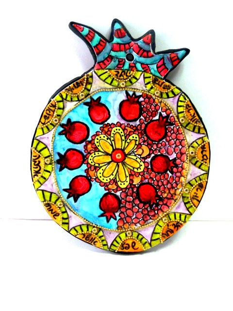 pomegranate  wall hanging by MIRAKRIS on Etsy, $32.00