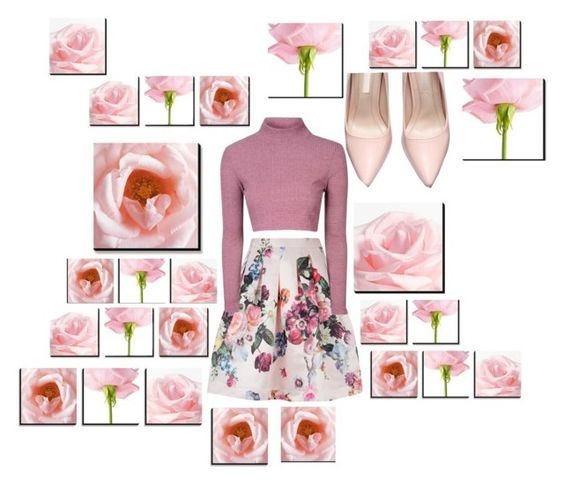 """""""Untitled #430"""" by ashley-bella-fonte ❤ liked on Polyvore featuring Ted Baker and Glamorous"""