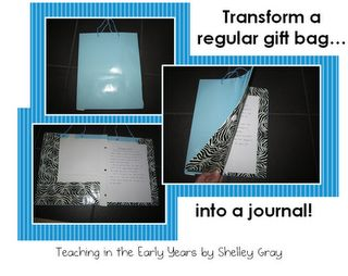 How to make a journal out of a gift bag!