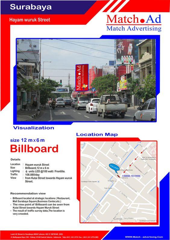 Surabaya Barat, Jl. Hayam Wuruk (SUTOS to Store Palapa) - Billboard 12x6
