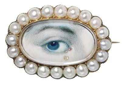 A lover's-eye brooch, c.1790-1810.: