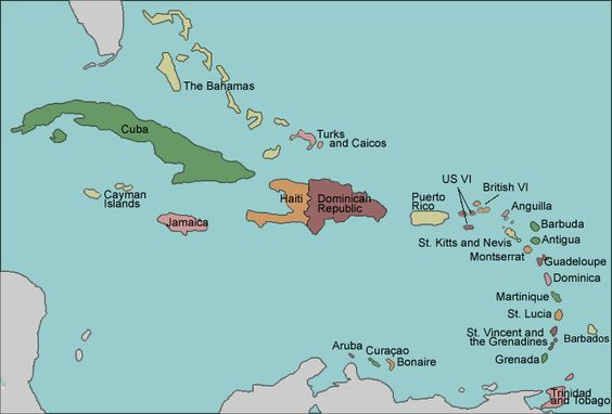 Map Of Caribbean With Countries Labeled Learn Something