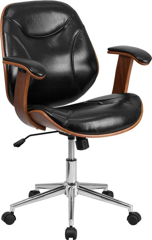 High Back Leather Desk Chair Leather Office Chair Wood Office Chair Office Chair