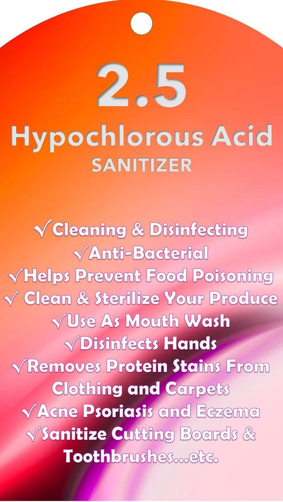 With the Kangen machine you will never run out of your own sanitizer!  You can disinfect your hands, your counters, clean your food, remove stains, clear up acne and so much more.  Learn more about hypochlorous acid water today.