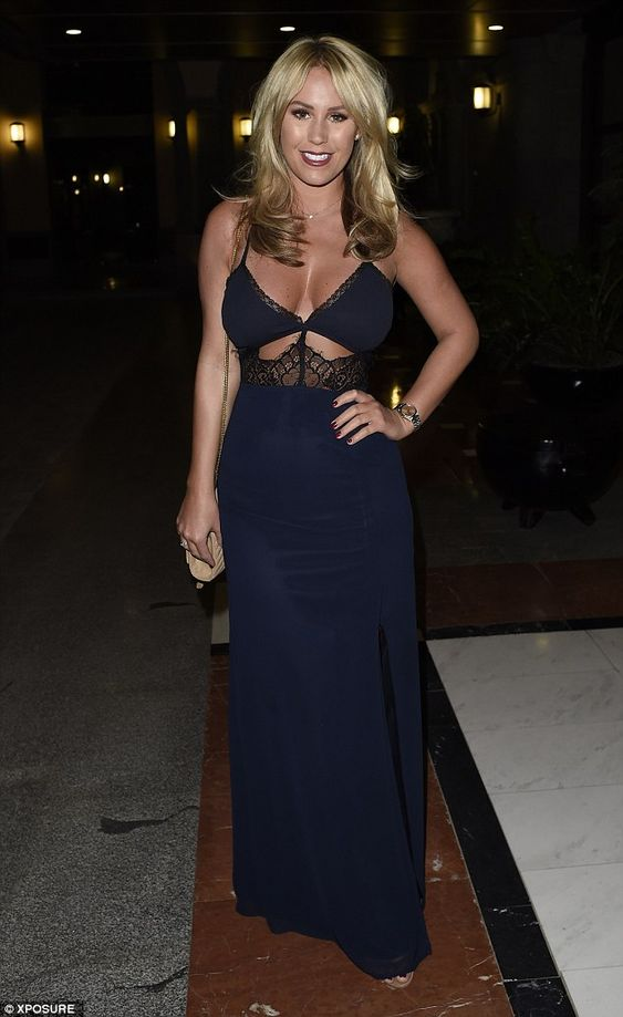 Busty display:As ever, the 24-year-old newcomer put her best assets forward in a plunging cut-out maxi-dress while Georgia, also 24, went for a sexy sporty look