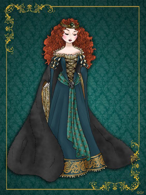 """série de ilustração """"Disney Queen Designer Collection"""".:"""
