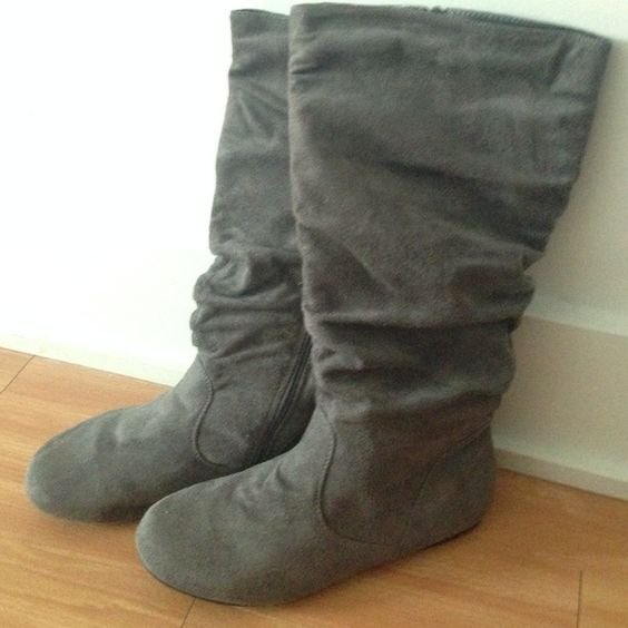 suede fergie zip up boots suede fergie zip up boots, never worn! Fergie Shoes