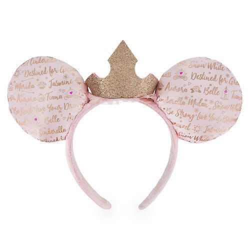 Minnie Mouse Ears with Tiara Pretty in Pink Minnie Ears Pink Princess Minnie Ears Minnie Mouse Ears