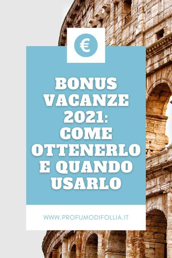 Come ottenere il bonus vacanze 2021