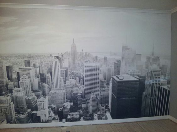 New york wallpaper mural room ideas pinterest for New york mural wallpaper