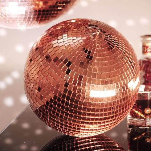 Pack Of 2 10 Rose Gold Disco Mirror Ball Large Disco Ball With Hanging Swivel Ring Mirror Ball Disco Ball Disco Ball Mirror