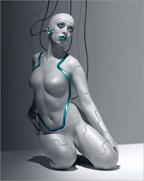 Girl robot nude — pic 11