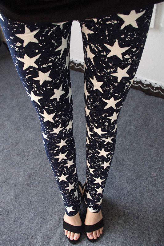 Star Print Leggings