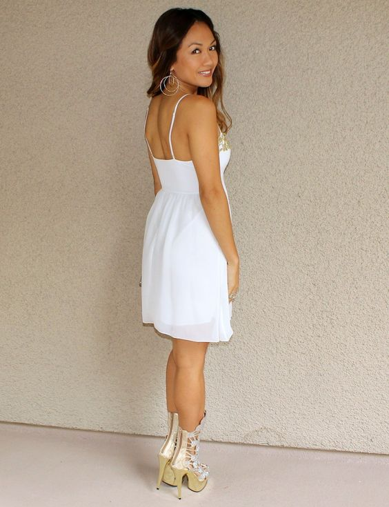 'Aphrodite' Babydoll Dress (White)