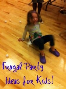 Frugal Party Games for Kids