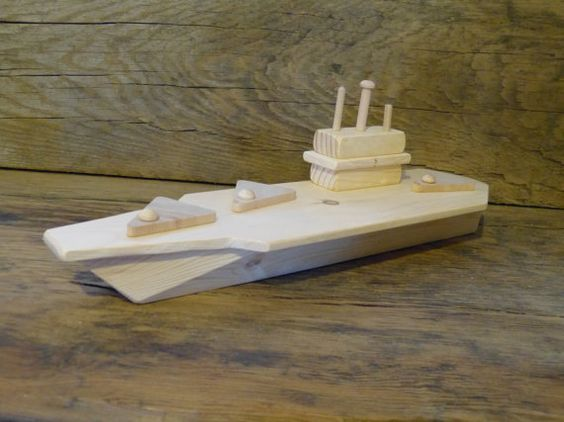Wood Toy Aircraft Carrier Wooden Toys Matchbox Planes Boat Ship Eco ...