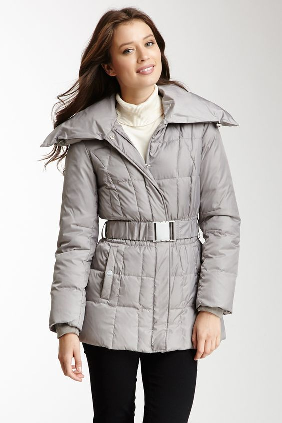 Belted Matte Satin Quilted Jacket