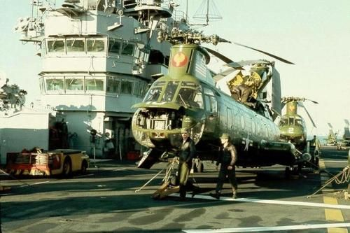 Boeing Vertol CH-46 Sea Knight.  #VietnamWarMemories