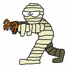 A fun halloween party game for kids as well as adults in which players have to wrap their partner with bandage or by toilet paper to make him/her look like a mummy.