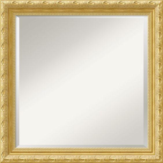 Amanti Art Versailles Square Mirror in Light Gold - DSW01488